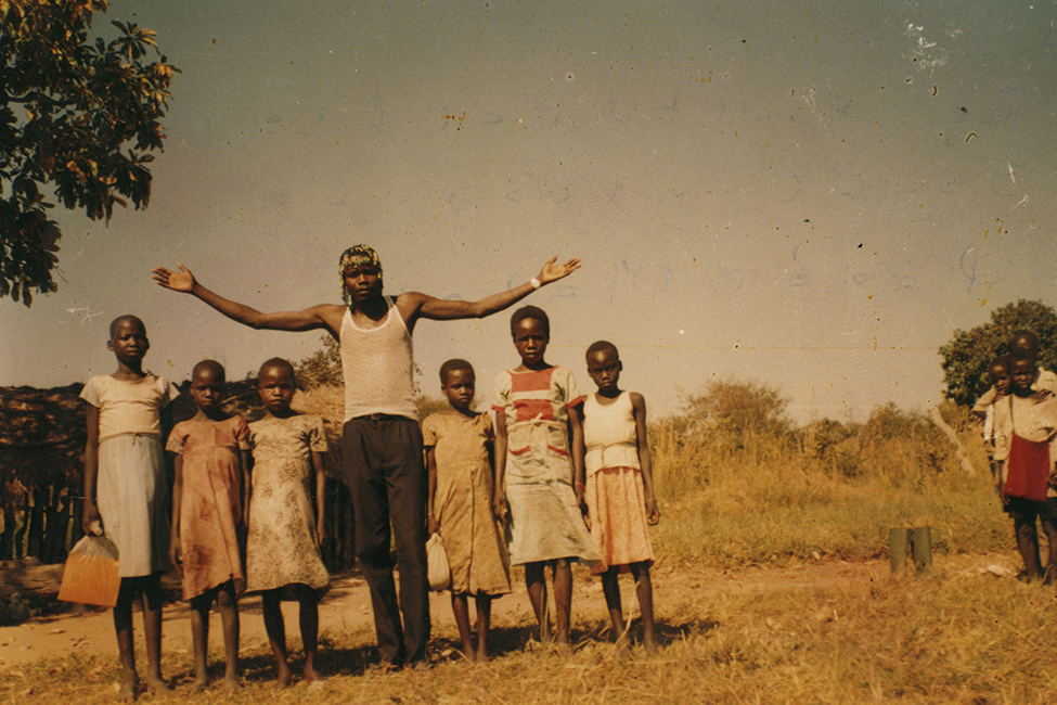 Joseph Kony with children